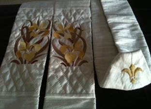 Embroidered and Quilted Stole