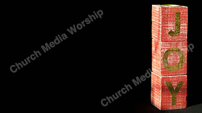 Blocks Joy Christian Worship Background. High quality worship images for use to spread the Gospel and enhance the worship experience.