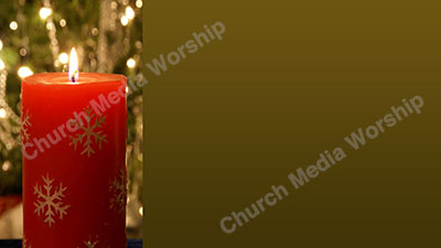 Christmas Candle V3 Green Christian Worship Background. High quality worship images for use to spread the Gospel and enhance the worship experience.