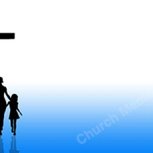 Family Coming to Christ Blue Christian Worship Background. High quality worship images for use to spread the Gospel and enhance the worship experience.