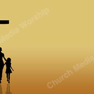 Family Coming to Christ Earthtone Christian Worship Background. High quality worship images for use to spread the Gospel and enhance the worship experience.