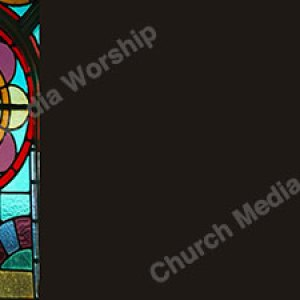 Flower Stained Glass Frame Christian Worship Background. High quality worship images for use to spread the Gospel and enhance the worship experience.