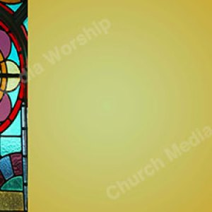 Flower Stained Glass Yellow Christian Worship Background. High quality worship images for use to spread the Gospel and enhance the worship experience.