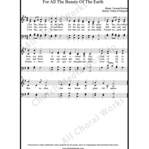 For the beauty of the earth Sheet Music (SATB) Make unlimited copies of sheet music and the practice music.