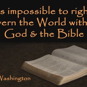 George Washington Quote Christian Animated Still A professional animated intro that's stops on a still image without continuous movements distraction