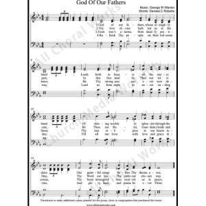 God of our fathers Sheet Music (SATB) Make unlimited copies of sheet music and the practice music.