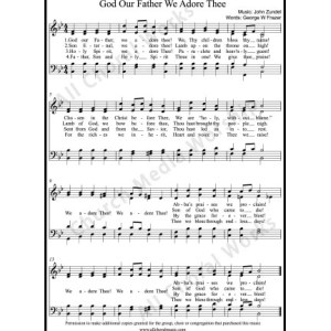 God our Father we adore you Sheet Music (SATB) Make unlimited copies of sheet music and the practice music.