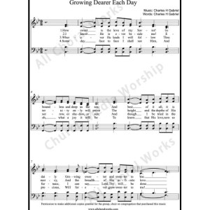 Growing Dearer each day Sheet Music (SATB) Make unlimited copies of sheet music and the practice music.
