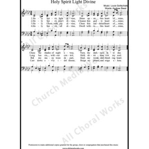 Holy Spirit light divine Sheet Music (SATB) Make unlimited copies of sheet music and the practice music.