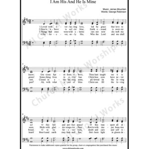 I am his and He is mine Sheet Music (SATB) Make unlimited copies of sheet music and the practice music.