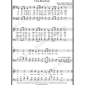 I am resolved Sheet Music (SATB) Make unlimited copies of sheet music and the practice music.