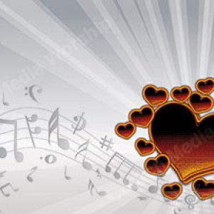 I Love Music Fire Heart Christian Worship Background. High quality worship images for use to spread the Gospel and enhance the worship experience.