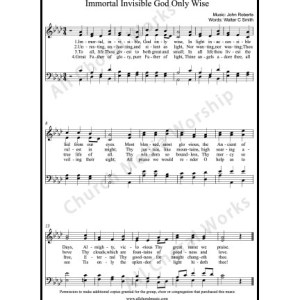 Immortal invisible God only wise Sheet Music (SATB) Make unlimited copies of sheet music and the practice music.