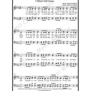 I must tell Jesus Sheet Music (SATB) Make unlimited copies of sheet music and the practice music.
