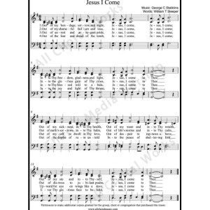 Jesus I come Sheet Music (SATB) Make unlimited copies of sheet music and the practice music.