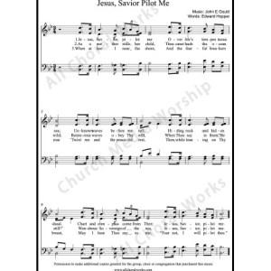 Jesus Savior Pilot Me Sheet Music (SATB) Make unlimited copies of sheet music and the practice music.