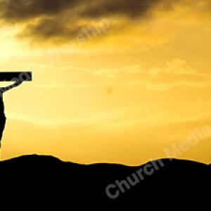 Jesus on the cross Silhouette V2 Christian Worship Background. High quality worship images for use to spread the Gospel and enhance the worship experience.
