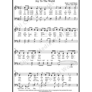 Joy To The World Sheet Music (SATB) Make unlimited copies of sheet music and the practice music.