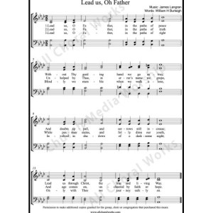 Lead us oh Father Sheet Music (SATB) Make unlimited copies of sheet music and the practice music.