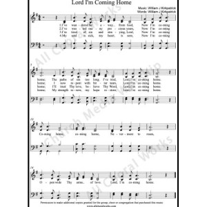 Lord Im coming home Sheet Music (SATB) Make unlimited copies of sheet music and the practice music.