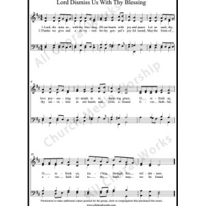 Lord dismiss us with thy blessing Sheet Music (SATB) Make unlimited copies of sheet music and the practice music.