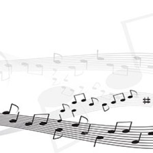 Musical notes across the page white Christian Worship Background. High quality worship images for use to spread the Gospel and enhance the worship.