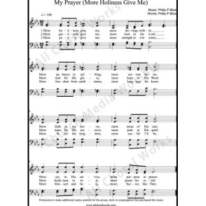 My Prayer Sheet Music (SATB) Make unlimited copies of sheet music and the practice music.