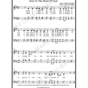 Near to the heart of God Sheet Music (SATB) Make unlimited copies of sheet music and the practice music.