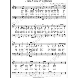 O sing a song of Bethlehem Sheet Music (SATB) Make unlimited copies of sheet music and the practice music.