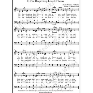 O the deep deep love of Jesus Sheet Music (SATB) Make unlimited copies of sheet music and the practice music.
