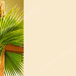 Palm leaves on the Cross offwhite Christian Worship Background. High quality worship images for use to spread the Gospel and enhance the worship experience.