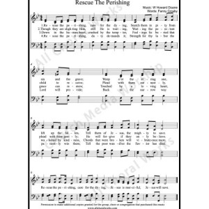 Rescue the perishing Sheet Music (SATB) Make unlimited copies of sheet music and the practice music.