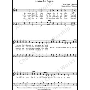 Revive us again Sheet Music (SATB) Make unlimited copies of sheet music and the practice music.