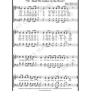 Shall we gather at the river Sheet Music (SATB) Make unlimited copies of sheet music and the practice music.