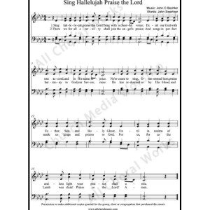 Sing Hallelujah praise the Lord Sheet Music (SATB) Make unlimited copies of sheet music and the practice music.