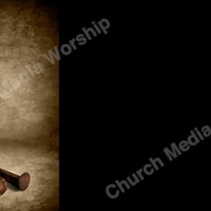 Spikes On The Cross Christian Worship Background. High quality worship images for use to spread the Gospel and enhance the worship experience.