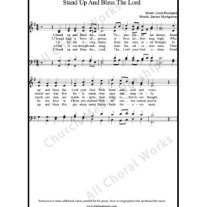 Stand up and bless the Lord Sheet Music (SATB) Make unlimited copies of sheet music and the practice music.