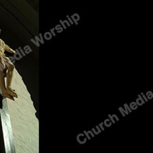 Statue of Christ Black Christian Worship Background. High quality worship images for use to spread the Gospel and enhance the worship experience.