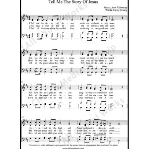 Tell me the story of Jesus Sheet Music (SATB) Make unlimited copies of sheet music and the practice music.