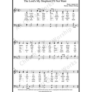 The Lord's my shepherd I'll not want Sheet Music (SATB) Make unlimited copies of sheet music and the practice music.