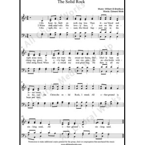 The Solid Rock Sheet Music (SATB) Make unlimited copies of sheet music and the practice music.