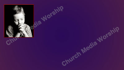 Child praying V1 purple Christian Worship Background. High quality worship images for use to spread the Gospel and enhance the worship experience.