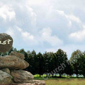Hand w rock trust Christian Worship Background. High quality worship images for use to spread the Gospel and enhance the worship experience.