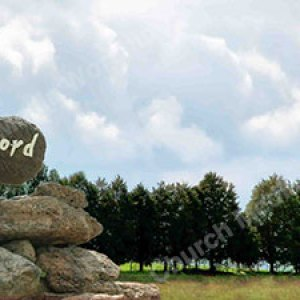 Hand w rock word Christian Worship Background. High quality worship images for use to spread the Gospel and enhance the worship experience.