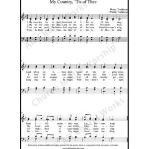 My Country tis of thee Sheet Music (SATB) Make unlimited copies of sheet music and the practice music.