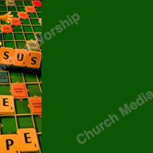 scrabble board green Christian Worship Background. High quality worship images for use to spread the Gospel and enhance the worship experience.