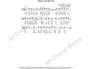 Abide with Me Male Choir Sheet Music TB 2-part Make unlimited copies of sheet music and the practice music.