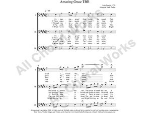 Amazing Grace Male Choir Sheet Music TBB 3-part Make unlimited copies of sheet music and the practice music.