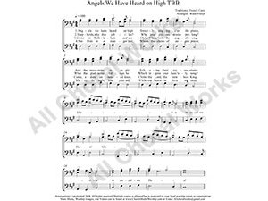 Angels We have Heard on High Male Choir Sheet Music TBB 3-part Make unlimited copies of sheet music and the practice music.