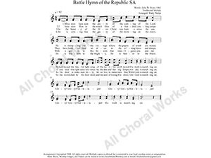 Battle Hymn Female Choir Sheet Music SA 2-part Make unlimited copies of sheet music and the practice music.